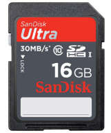 SanDisk Ultra SDHC Class 10 UHS-I 30MB/S 16GB